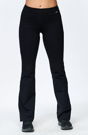 Tenčí přiléhavé dlouhé černé dámské kalhoty 4327