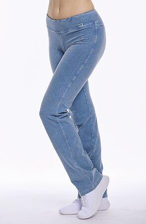 Jednoduché dlouhé dámské kalhoty s riflovým vzhledem 367