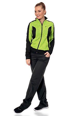 Černé dámské softshellové kalhoty s kapsami 945