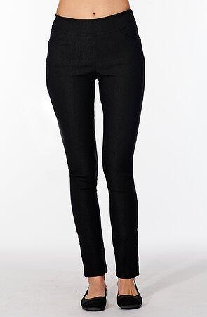 Černé elegantní dlouhé dámské kalhoty 347