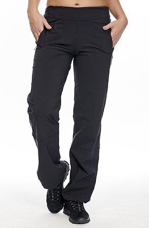 Funkční černé dámské kalhoty s kapsami na zip 310