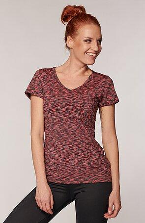 Sportovní melírované růžovošedé dámské tričko 17