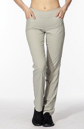 Dlouhé béžové sportovní dámské kalhoty 377 lnt