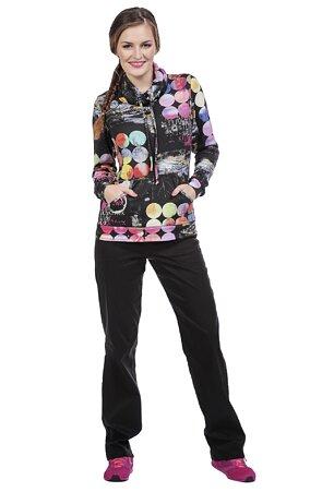 Černé funkční dlouhé dámské kalhoty s kapsami 344