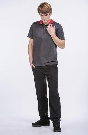 Zimní funkční černé pánské kalhoty s kapsami 406