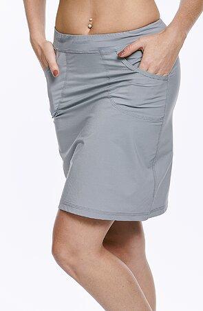 Funkční sportovní šedá dámská sukně s kapsami 113