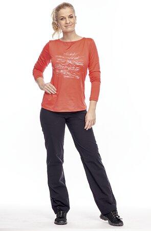 Sportovní dlouhé černé dámské kalhoty 396 hon