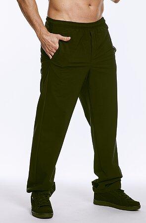 Letní funkční černé pánské kalhoty s kapsami 410