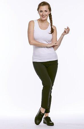 Lehké černé dámské kalhoty nad kotníky 313