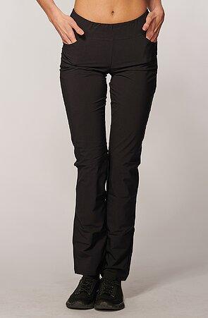 Dlouhé černé dámské kalhoty s úzkými nohavicemi 377 lnt