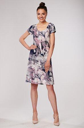 Barevné dámské šaty s kašmírem 7088