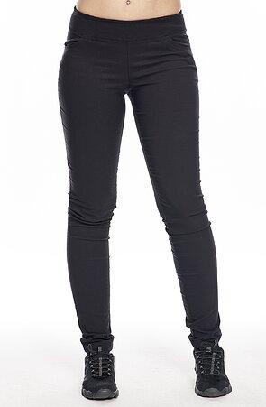 Černé dlouhé dámské kalhoty s úzkými nohavicemi 374