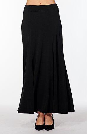Dlouhá černá dámská sukně 179