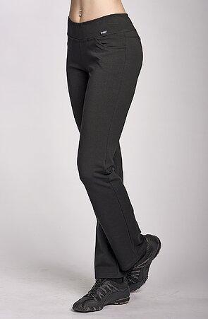 Úzké černé sportovní dámské kalhoty 349