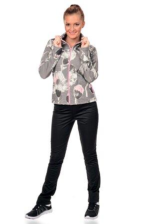 Černé dámské softshellové kalhoty s úzkými nohavicemi 926