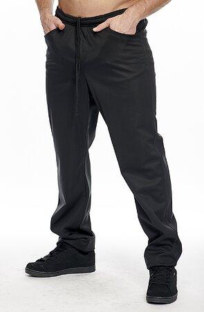 Softshellové černé pánské kalhoty s kapsami 963