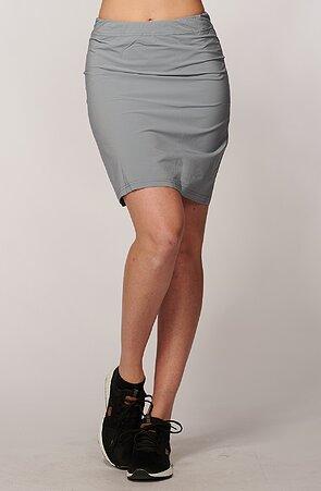 Funkční rovná šedá dámská sukně 108