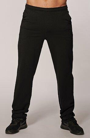 Užší černé pánské dlouhé kalhoty s kapsami 434