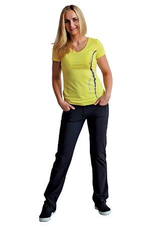 Funkční černé dámské kalhoty se zipem 381 sil