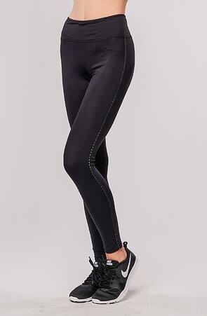 Funkční dlouhé černé dámské kalhoty s push-up efektem 386