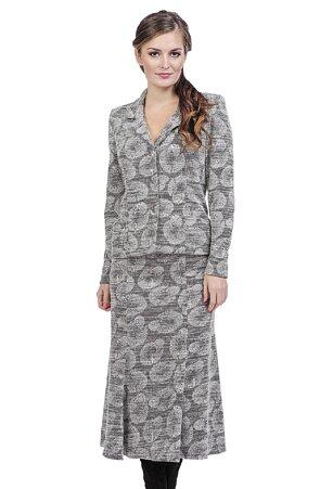 Delší rozšířená šedá dámská sukně 141