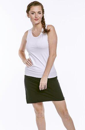 Funkční rovná černá dámská sukně 108