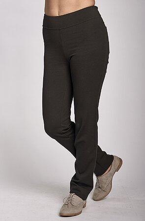 Černé dlouhé dámské kalhoty 359