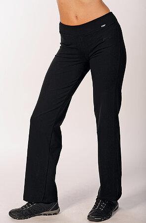 Jednoduché dlouhé černé dámské kalhoty 367