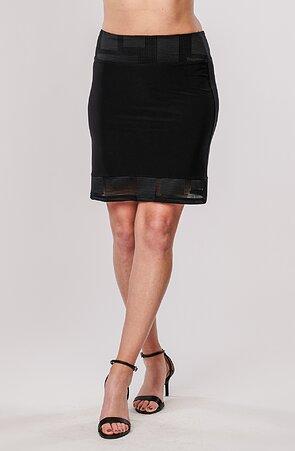 Černá dámská sukně s krajkou 160