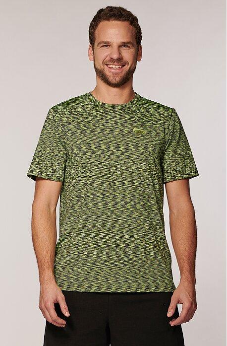 Sportovní melírované zelené pánské tričko 492